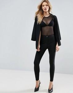 Зауженные брюки со швами ASOS - Черный