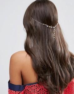 Украшение для волос с цветами ASOS Occasion - Медный