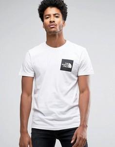 Белая футболка с квадратным логотипом The North Face - Белый