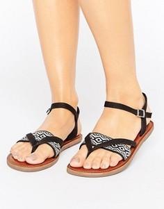 Черные сандалии с вышивкой TOMS Lexie - Черный