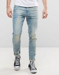 Выбеленные голубые джинсы скинни плотностью 12,5 унции ASOS - Синий