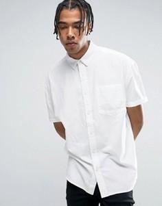 Белая оксфордская оversize-рубашка ASOS - Белый