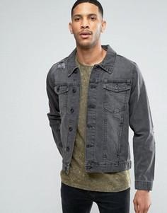 Черная джинсовая куртка Threadbare - Черный
