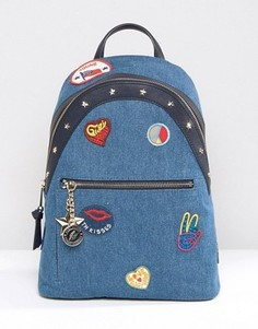 Джинсовый рюкзак с нашивками Tommy Hilfiger Gigi Hadid - Синий