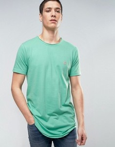 Длинная футболка с необработанным краем Le Breve - Зеленый
