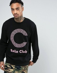Свитшот с крупным логотипом Carhartt WIP Radio Club - Черный