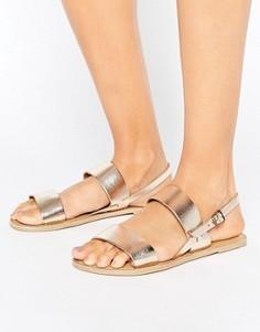 Кожаные сандалии London Rebel - Золотой