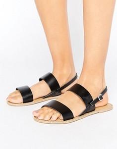 Кожаные сандалии London Rebel - Черный