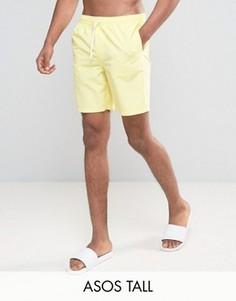 Желтые шорты для плавания средней длины ASOS TALL - Желтый