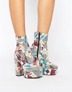 Ботинки на платформе ASOS ELLER - Мульти