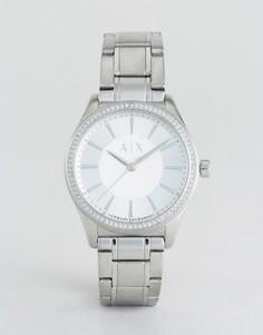 Серебристые часы Armani Exchange Nicolette - Серебряный