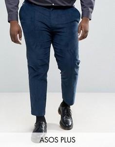 Укороченные вельветовые брюки скинни ASOS PLUS - Зеленый