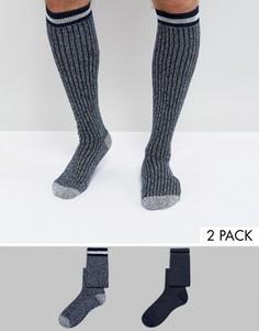 2 пары носков под сапоги из крученой пряжи ASOS - Мульти