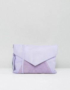 Кожаная сумка через плечо с кисточкой ASOS - Фиолетовый