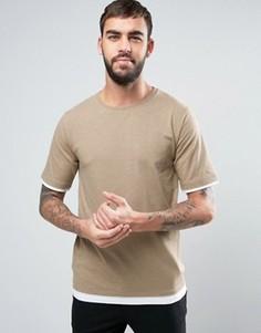 Ярусная футболка Hoxton Denim - Бежевый