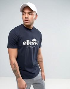 Футболка с большим логотипом Ellesse Italia - Темно-синий