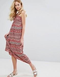 Платье-бандо макси See U Soon - Красный