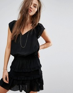 Ярусное платье BA&SH - Черный Ba&Sh