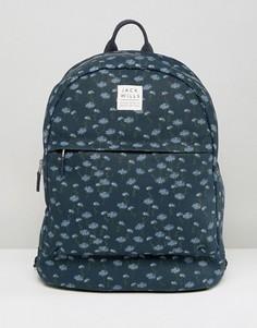 Темно-синий рюкзак с цветочным принтом Jack Wills - Темно-синий