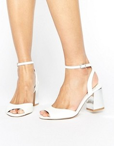 Босоножки на блочном каблуке Faith Danica - Белый