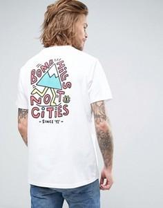 Белая футболка с надписью Bomb Hills Not Cities Element - Белый