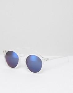 Круглые солнцезащитные очки в прозрачной оправе Selected Homme - Прозрачный