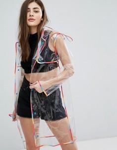 Прозрачная куртка с разноцветной отделкой New Look - Мульти