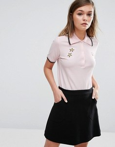 Поло со звездами Fred Perry Bella Freud - Розовый
