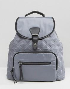 Стеганый нейлоновый рюкзак New Look - Серый