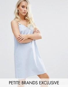 Платье в полоску на тонких бретельках Noisy May Petite - Синий