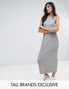 Трикотажное платье без рукавов Noisy May Tall - Серый