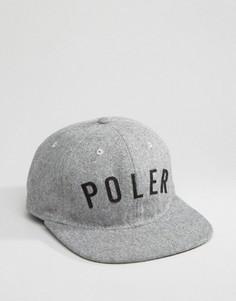 Регулируемая шерстяная кепка Poler - Серый