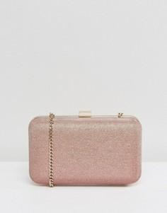 Розовая сумка-клатч цвета металик Dune Sarah - Розовый