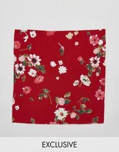Платок для пиджака с цветочным принтом Reclaimed Vintage Inspired - Красный
