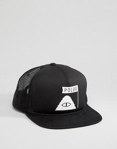 Бейсболка Poler - Черный