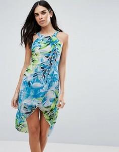 Платье с тропическим принтом Love & Other Things - Синий