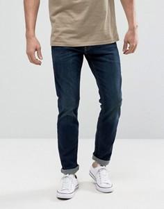 Темные эластичные джинсы скинни Hollister - Синий