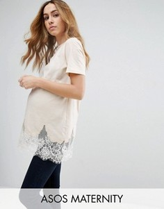 Удлиненная футболка для беременных ASOS Maternity - Розовый