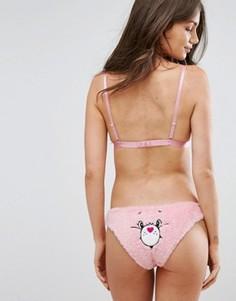 Трусы с медведем Undiz Bisouniz - Розовый