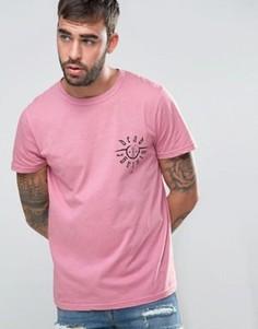 Пыльно-розовая футболка с логотипом на груди Dead Vintage - Розовый