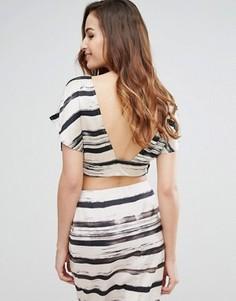 Топ с принтом и открытой спиной Kendall + Kylie - Черный