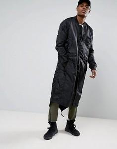 Удлиненная куртка с асимметричным краем Maharishi MA1 - Черный