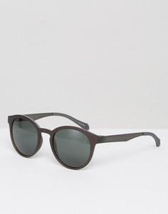 Круглые солнцезащитные очки BOSS by Hugo Boss - Коричневый