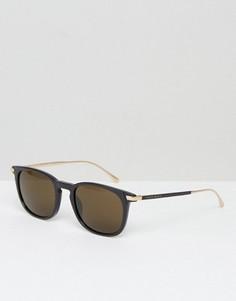 Квадратные солнцезащитные очки в черной оправе BOSS by Hugo Boss - Черный