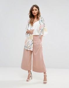 Юбка-брюки с отворотами New Look - Розовый
