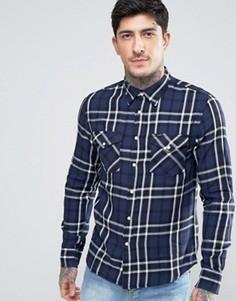 Саржевая рубашка в клетку в стиле вестерн Lee - Темно-синий