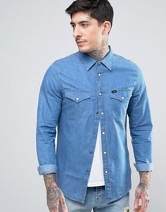 Джинсовая рубашка в стиле вестерн Lee - Синий