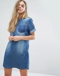Джинсовое платье на пуговицах J.D.Y - Синий JDY