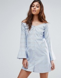 Платье на пуговицах Influence - Синий
