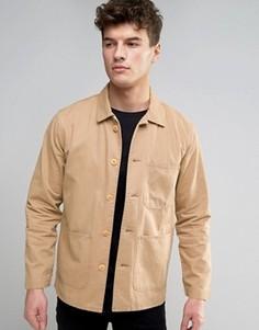 Рубашка милитари с 3 карманами Abercrombie & Fitch - Бежевый